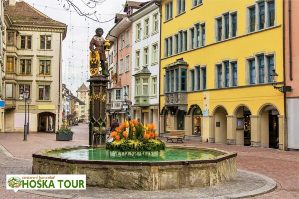 Schaffhausen – kašna v centru města