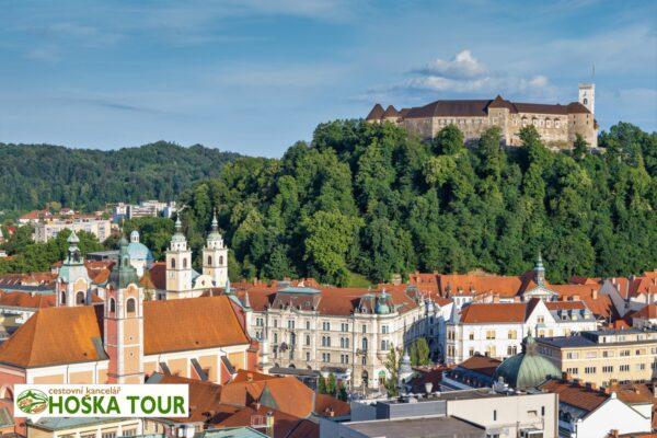 Centrum Lublaně a hrad