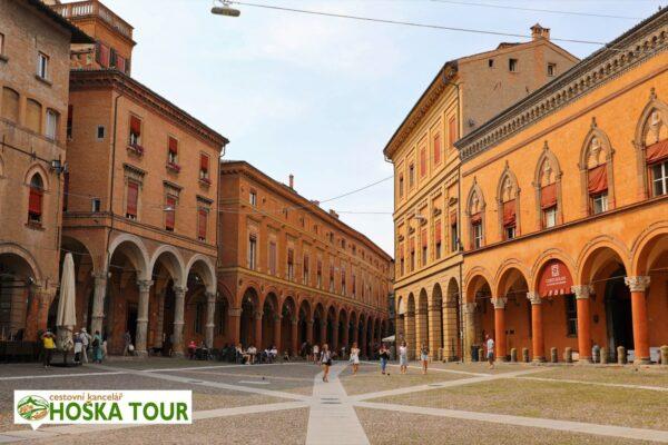 Centrum města Bologna – školní zájezd do Itálie