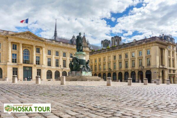 Centrum města Remeš – zájezdy pro školy do Francie