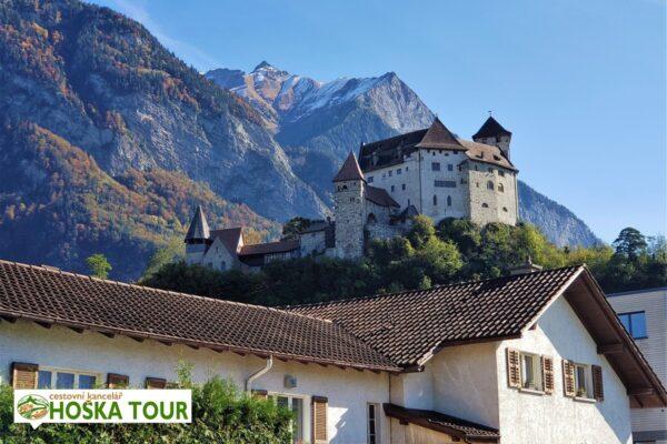 Hrad ve městě Vaduz – Lichtenštejnsko