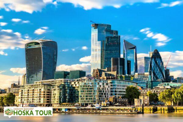 Londýn – mrakodrapy ve čtvrti CITY