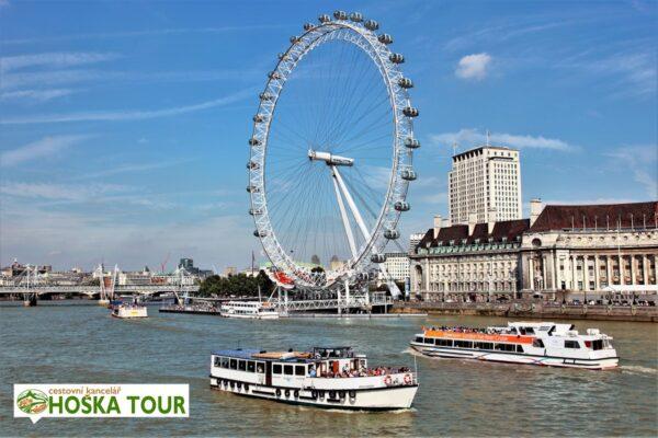 Londýn – obří kolo London Eye