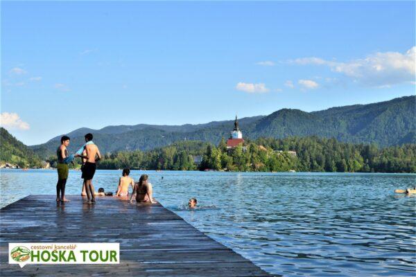 Molo na Bledu – možnost koupání v jezeře