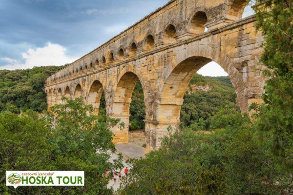 Most Pont du Gard – zájezdy pro školy do Provence