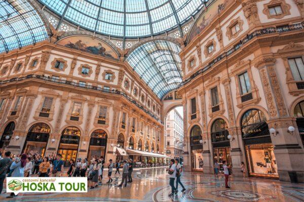 Obchodní pasáž v Miláně – školní zájezdy do Itálie