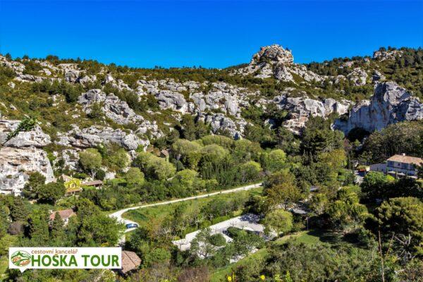 Skalní město Les Vaux de Provence – Francie