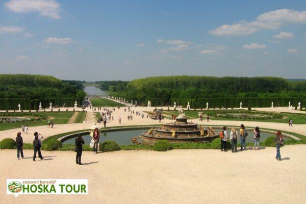 Školní zájezd do Paříže – zahrady ve Versailles