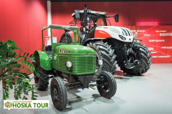Traktory Steyr vyráběné v Rakousku – školní zájezd s exkurzí