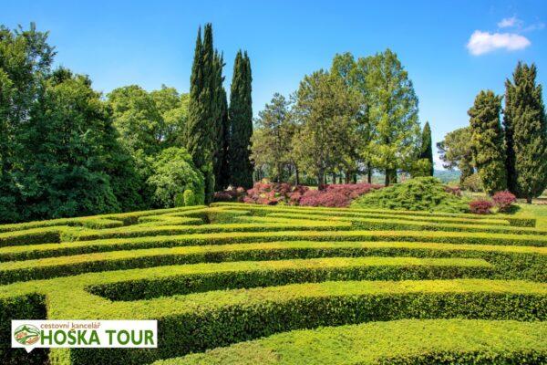 Upravené zahrady v Itálii