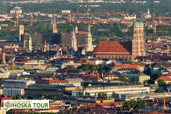 Výhled na centrum Mnichova z Olympijské věže – školní výlety do Bavorska