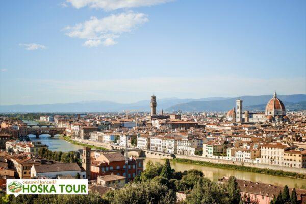 Výhled na město Florencie – školní zájezd do Itálie