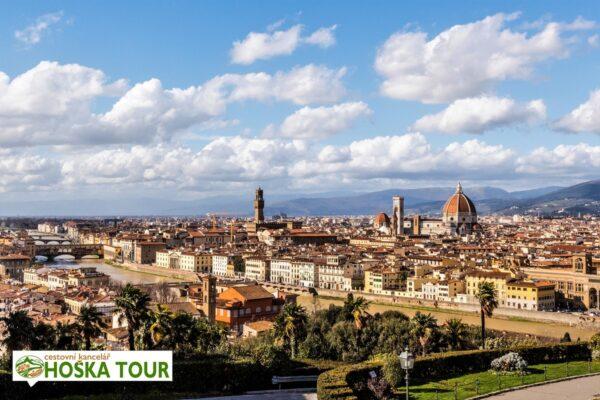Výhled na staré centrum Florencie – zájezdy pro školy do Itálie